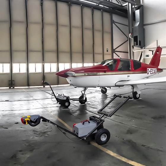 Towflexx TF2 Aircraft Tug can handle a Socata TB20 and many more Aircraft within this class