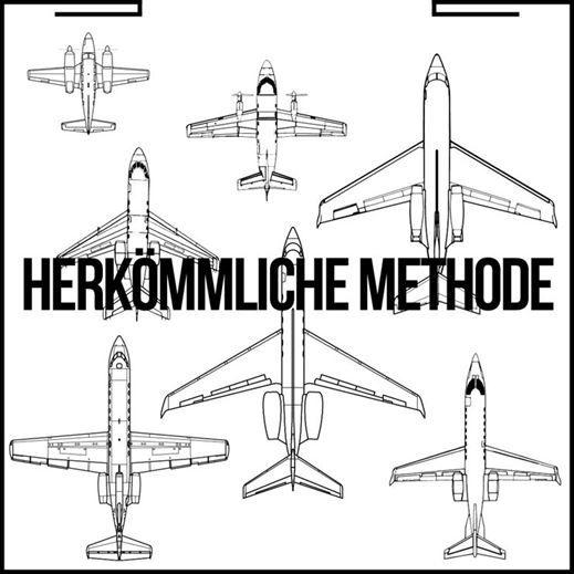 Flugzeuganordnung mit einem konventionellen Flugzeugschlepper
