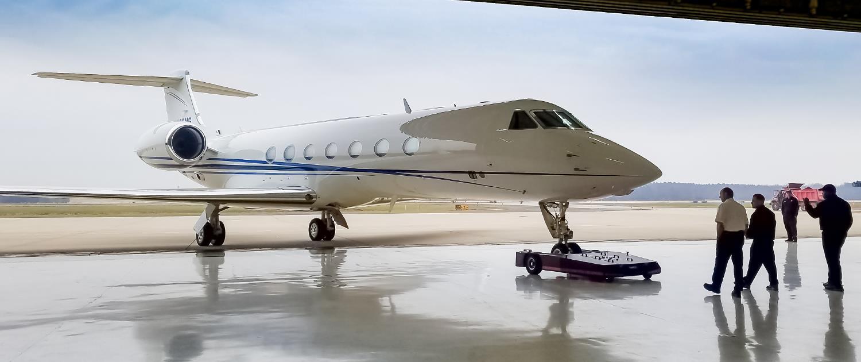 TowFLEXX TF5 is used with Gulfstream G550