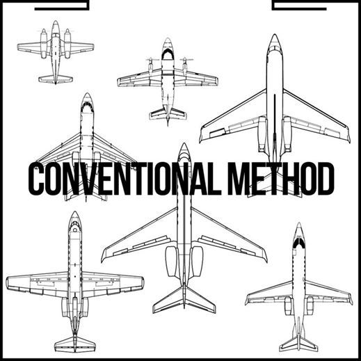 Aircraft arrangement with a conventional aircraft tractor